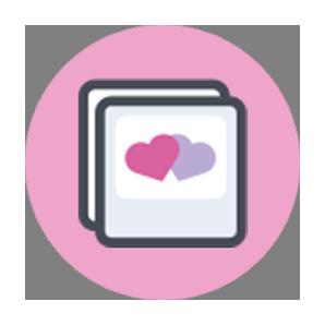 icone rosa