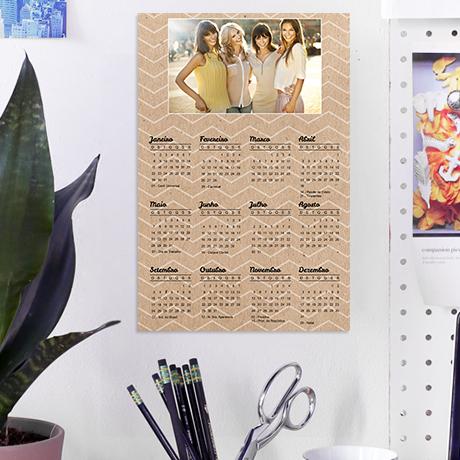 Calendário Poster - Características e Preço
