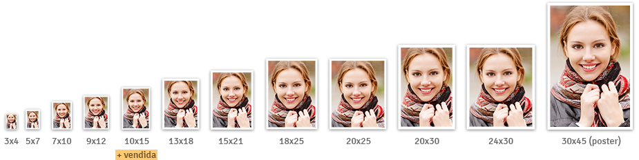 Revelação de fotos - Diversos tamanhos