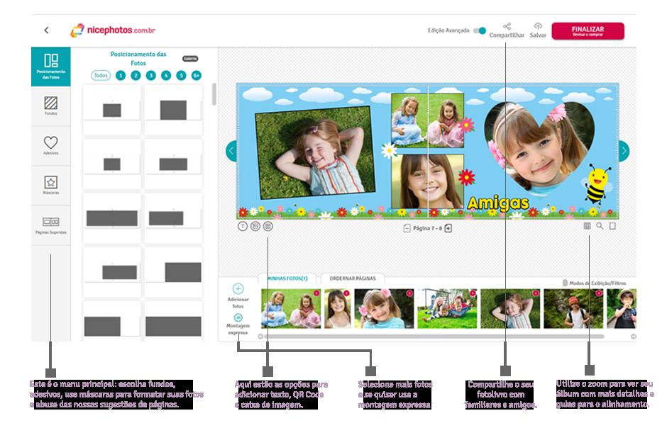 Veja como montar seu fotolivro usando o Módulo Personalizado