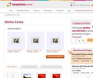 Captura de Tela com a conta do usuário - Nicephotos