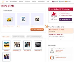 Captura de Tela com o plano da conta do usuário - Nicephotos