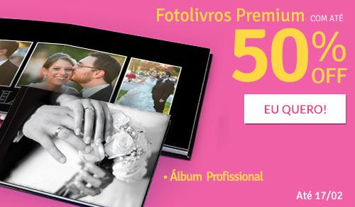 Fotolivro Premium c/40% off + Até 50% off em Páginas Extras.