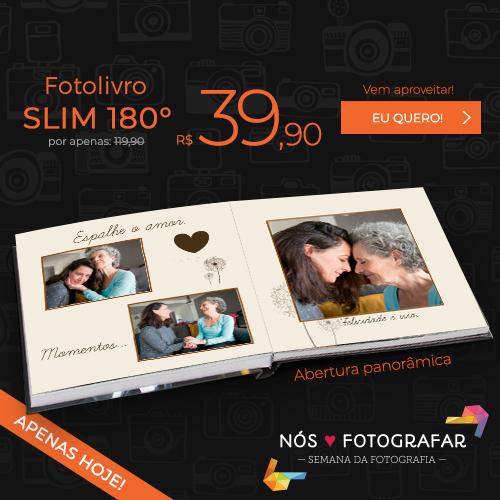 Fotolivro Slim a partir de R$39,90.