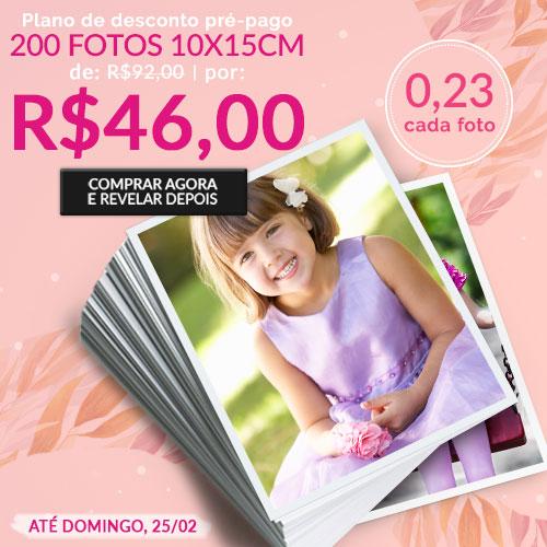 Plano de 200 Fotos por R$46 + Album Exclusivo 30% off