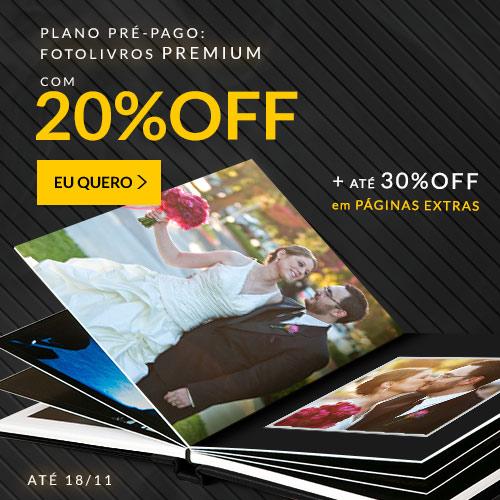 Fotolivro Premium c/20% off + Até 30% off em Páginas Extras.