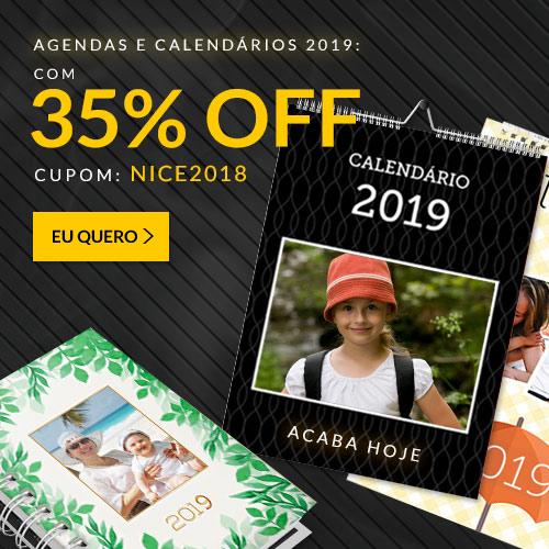 Agendas e Calendários 2019!