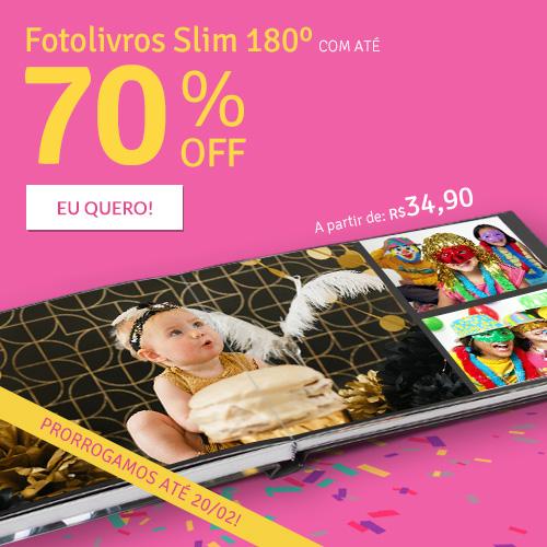 Fotolivros Slim 180º c/ até 70% OFF!