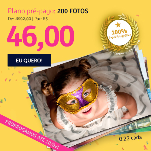 Plano de 200 fotos a R$46.