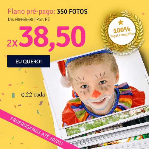 Plano de 350 fotos a R$77.