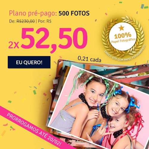 Plano de 500 fotos a R$105.