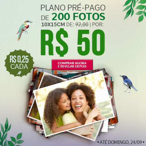 Plano de 200 Fotos por R$50
